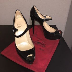 Christian Louboutin 140mm Black Bana Size 39eu
